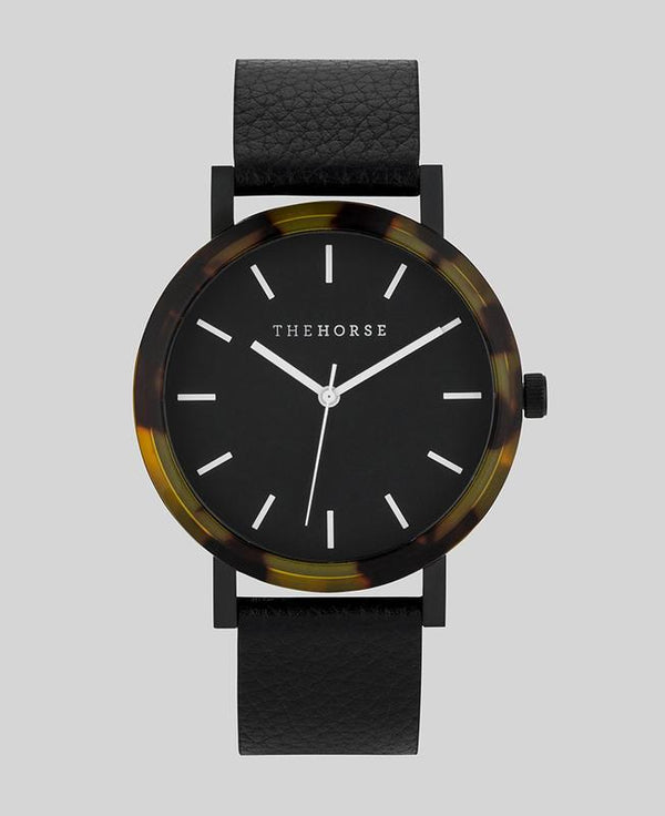 The Horse R Watch- Tort/Black/Pebble