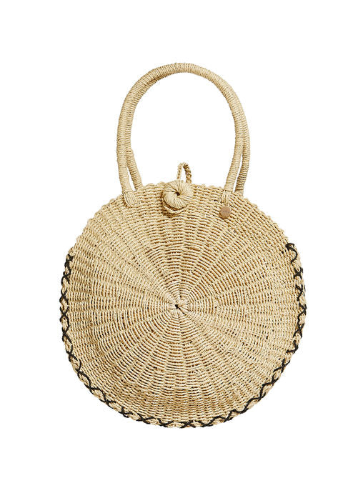 Seafolly Ladies Carried Away Round Beach Basket - Front