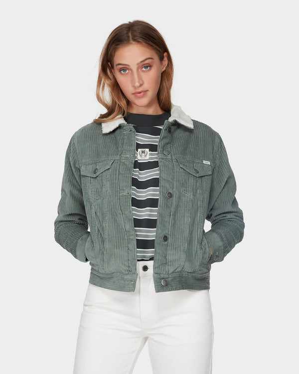 RVCA Ladies Plush Merc Jacket - Front
