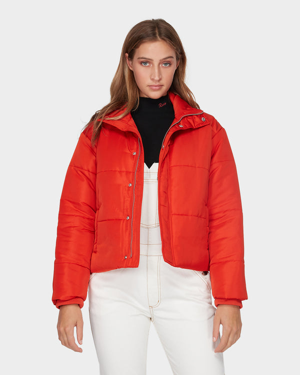 RVCA Ladies Eezeh Puffa Jacket - Front