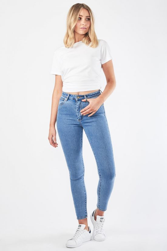 Abrand Ladies High Skinny Ankle Basher Jeans - Front