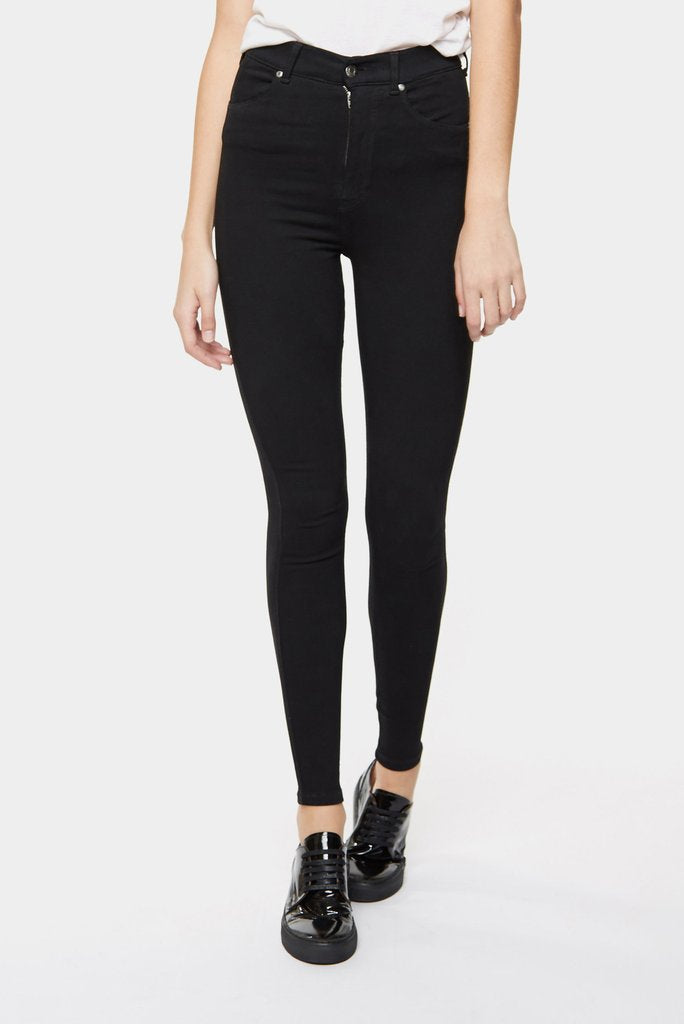 Dr Denim Ladies Moxy Denim Tights - Front