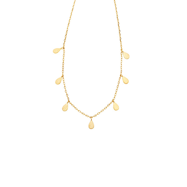 Jolie & Deen Teardrop Necklace- Gold