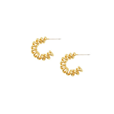 Jolie & Deen Minnie Hoop Earrings- Gold