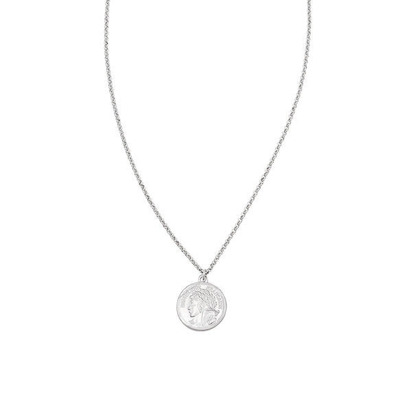Jolie & Deen Republique Coin Necklace- Silver