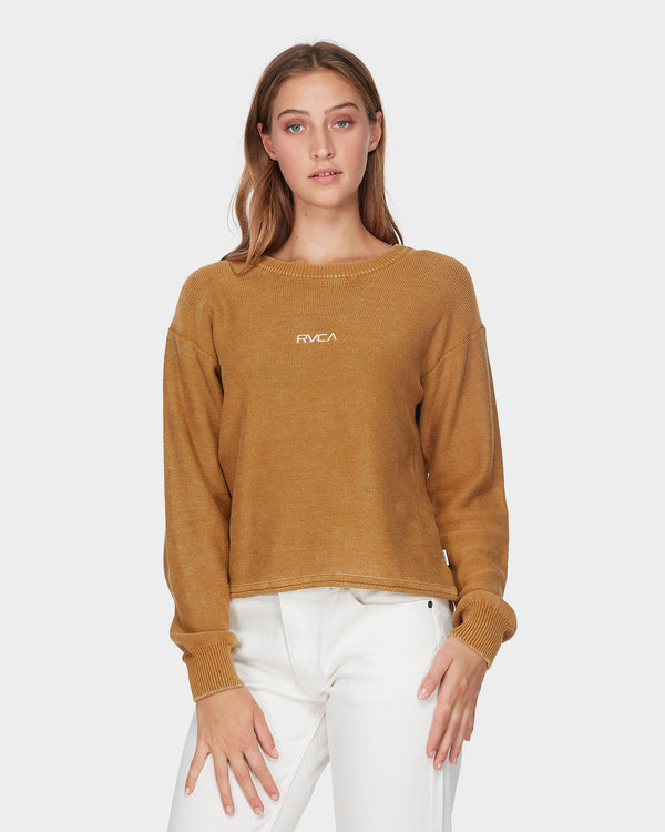 RVCA Ladies Pigment Sweater - Front