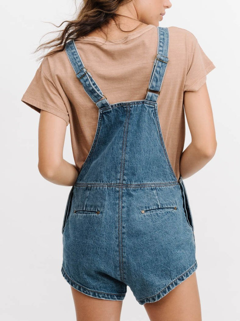 Thrills Stealth Short Overalls- Vintage Blue