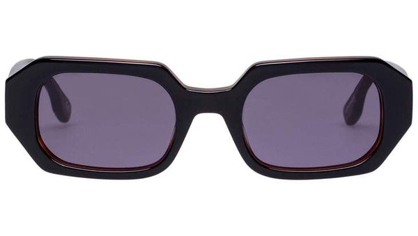Le Specs La Dolce Vita Sunnies- Black/Honey - Front