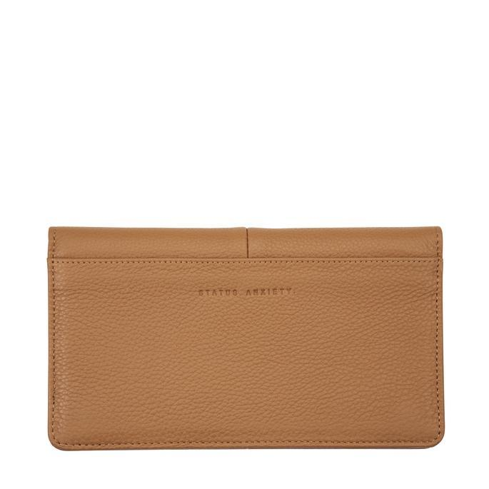 Status Anxiety Womens Triple Threat Wallet- Tan