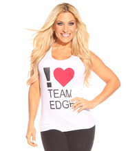 Load image into Gallery viewer, I Love Team Edge Racerback Tank
