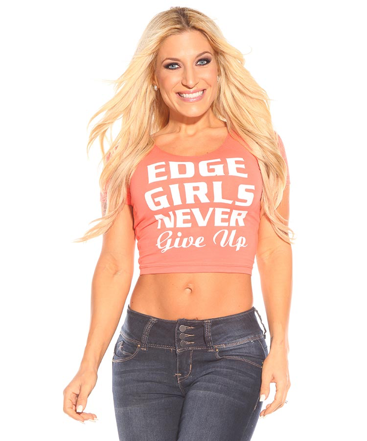 Edge Girls Never Give Up Crop Tee