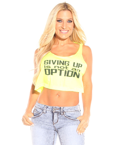 Giving Up Is Not An Option Loose Crop Top
