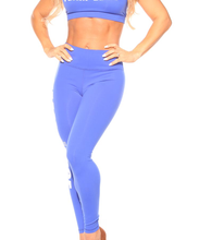 Load image into Gallery viewer, Team Edge Full Length Fitness Pant Royal Blue