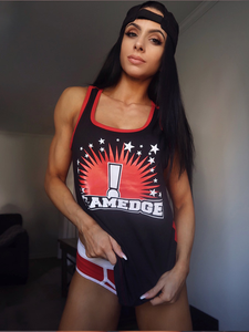 Team Edge Racerback Tank – Red/Black