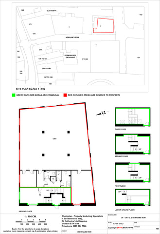 Commercial Land Registry Lease Plan