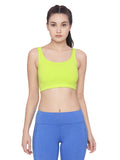 Women's Organic Cotton Sports Bra - Strappy Bra