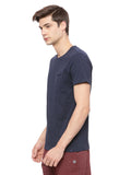 Men's Organic Cotton Round Neck Casual Tee Shirt - Crew Neck Tee