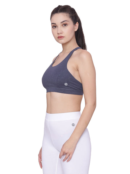 Women's Organic Cotton Padded Sports Bra - Zest Bra