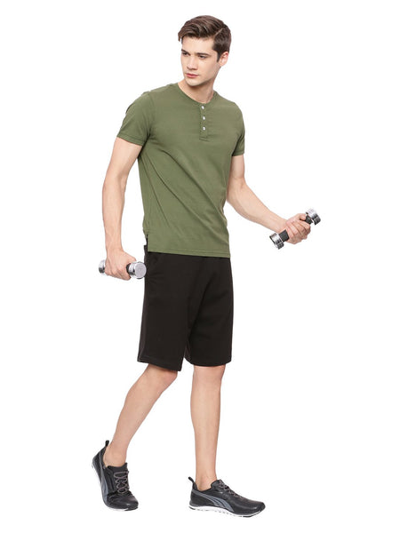Men's Organic Cotton Henley Tee Shirt - Active Henley