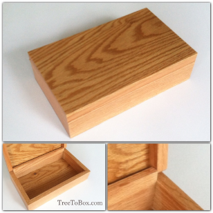 Available now Oak box 8.5x4.5x2
