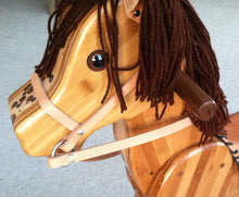 Wooden Rocking Horse in Beech, Bamboo and Black Walnut