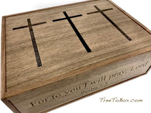 Wooden Prayer box with Three Crosses