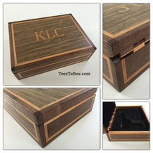 Wooden Gun box Custom Inlaid and woodburned