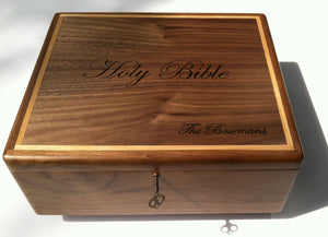Custom wooden Bible box
