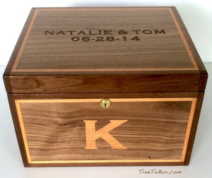 Custom wooden hand made keepsake box