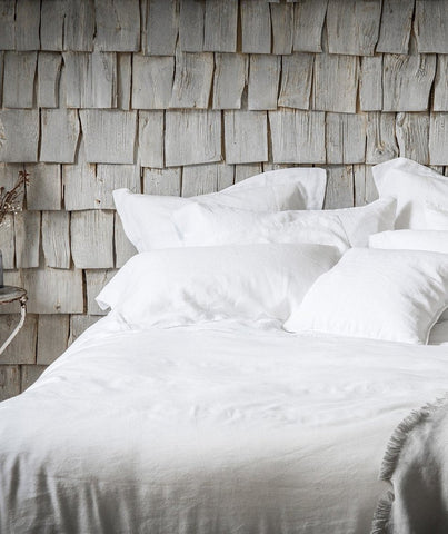 Classic White Linen Sheets by The Linen Works