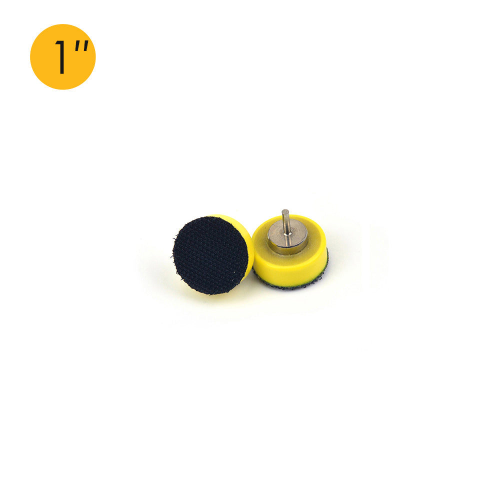 "1"" (25mm) x 2.35mm Mounted Shank Hook & Loop Back-up Sanding Pads"