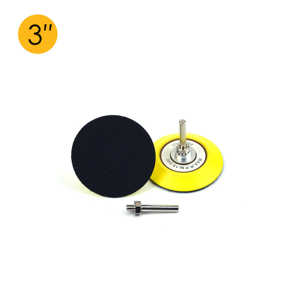 "3"" (75mm) x 6mm Shank Hook & Loop Back-up Sanding Pads"