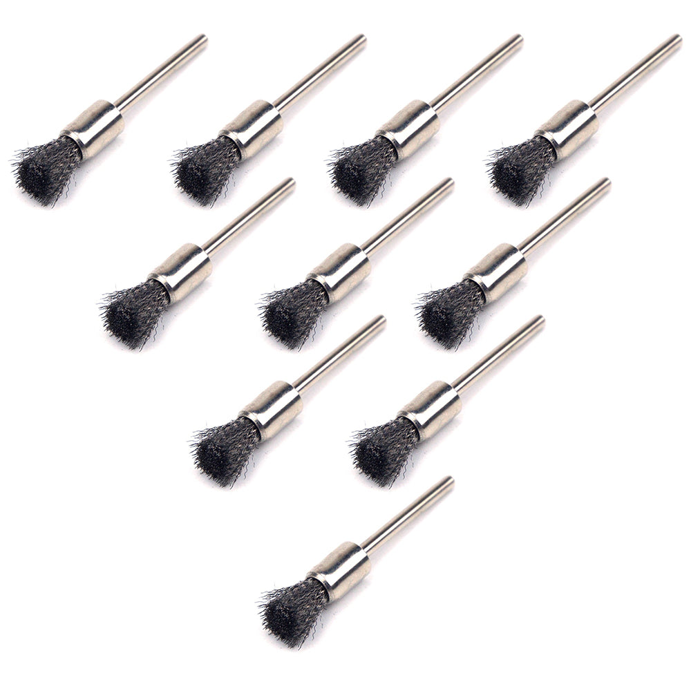 8mm x 3mm Mounted Shank Stainless Steel Wire End Brushes