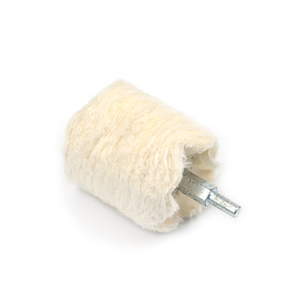 50x50mm x 6mm Shank Mounted Cotton Buffing Wheels, Cylindrical
