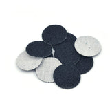 "1"" 60 Grit Silicon Carbide Wet/Dry Hook & Loop Sanding Discs, 10 Discs"