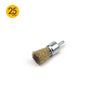 25mm x 6mm Shank Mounted Copper Plated Stainless Steel Wire End Brushes