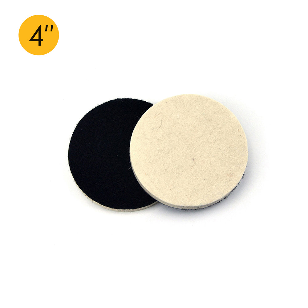 "4"" (100mm) Velcro Polishing Woolen Felt Discs"