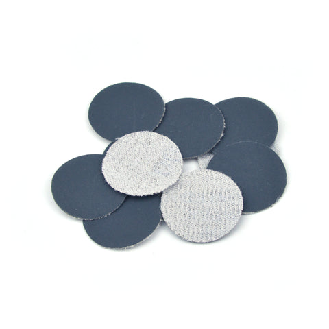 "1"" 1200 Grit Silicon Carbide Wet/Dry Hook & Loop Sanding Discs, 10 Discs"