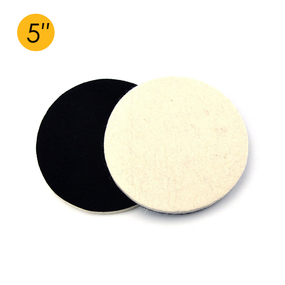 "5"" (125mm) Velcro Polishing Woolen Felt Discs"