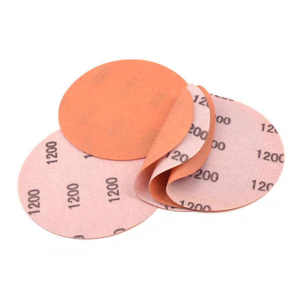 "5"" (125mm) 1200 Grit Flexible Hook & Loop Wet/Dry Auto Body Film Sanding Discs, 10 Discs"