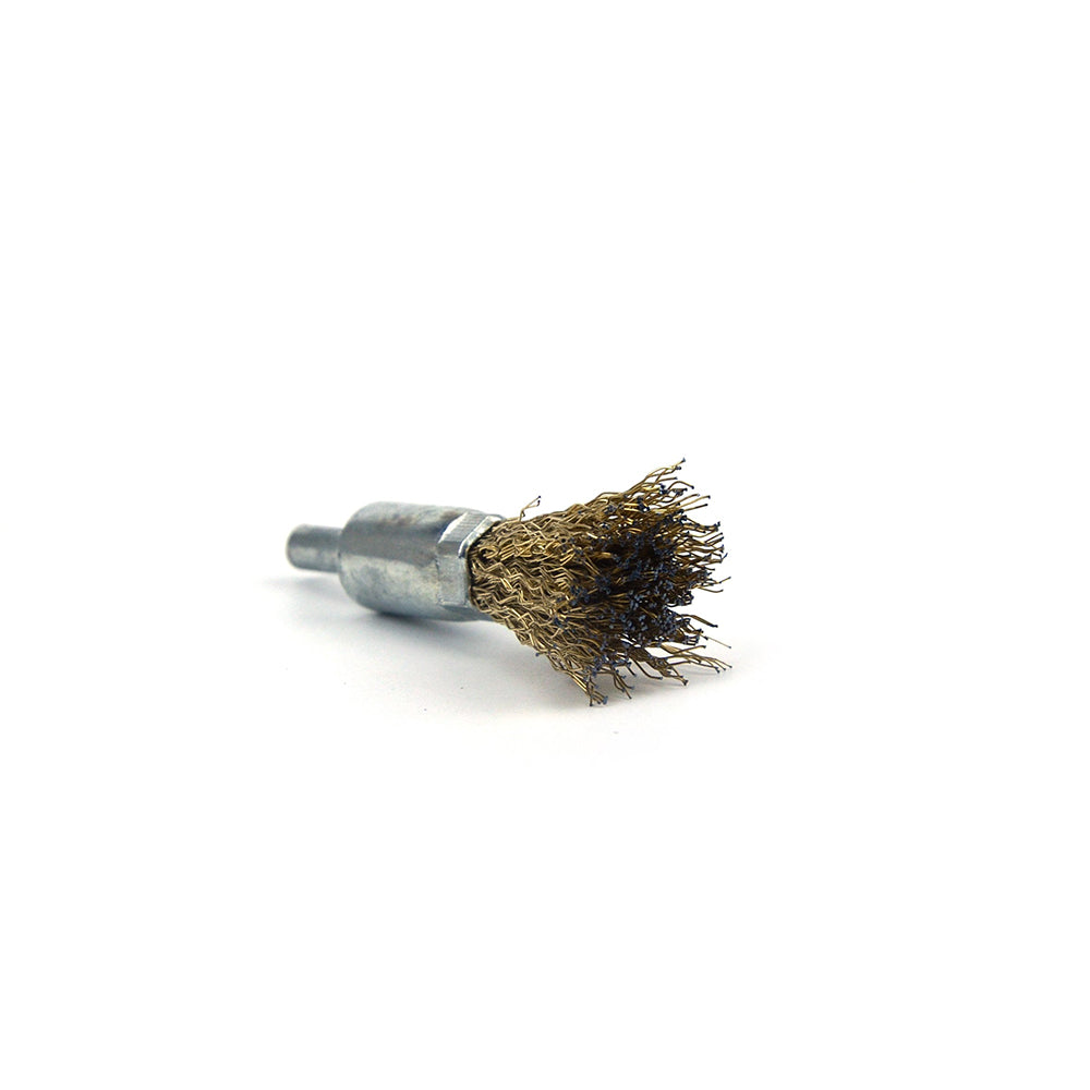 16mm x 6mm Shank Mounted Copper Plated Stainless Steel Wire End Brushes