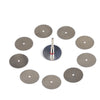 25mm Stainless Steel Mini Circular Saw Blades 3mm Screw Mandrel Cutting Discs for Dremel Rotary Tools, 11pcs Set