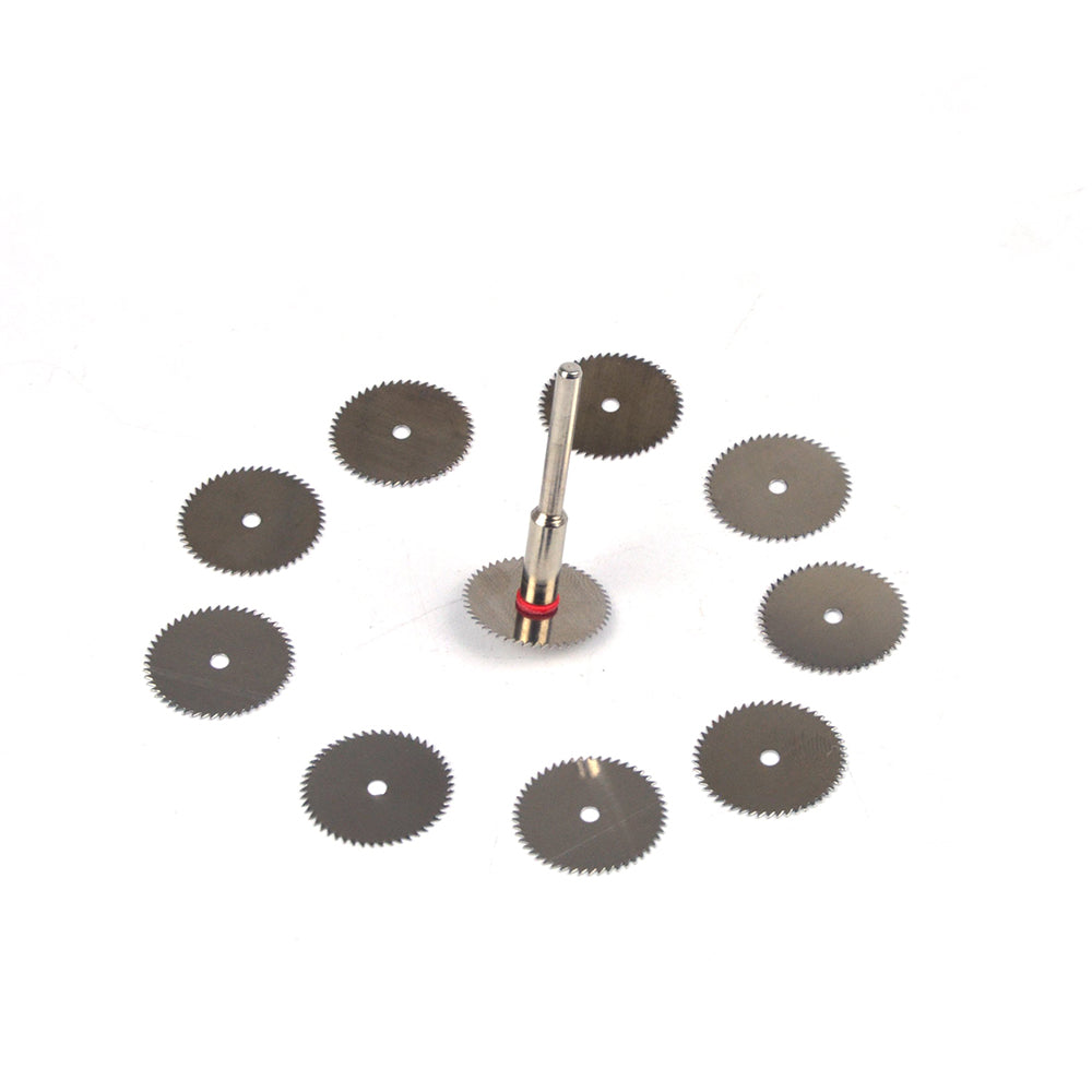 18mm Stainless Steel Mini Circular Saw Blades 3mm Screw Mandrel Cutting Discs for Dremel Rotary Tools, 11pcs Set