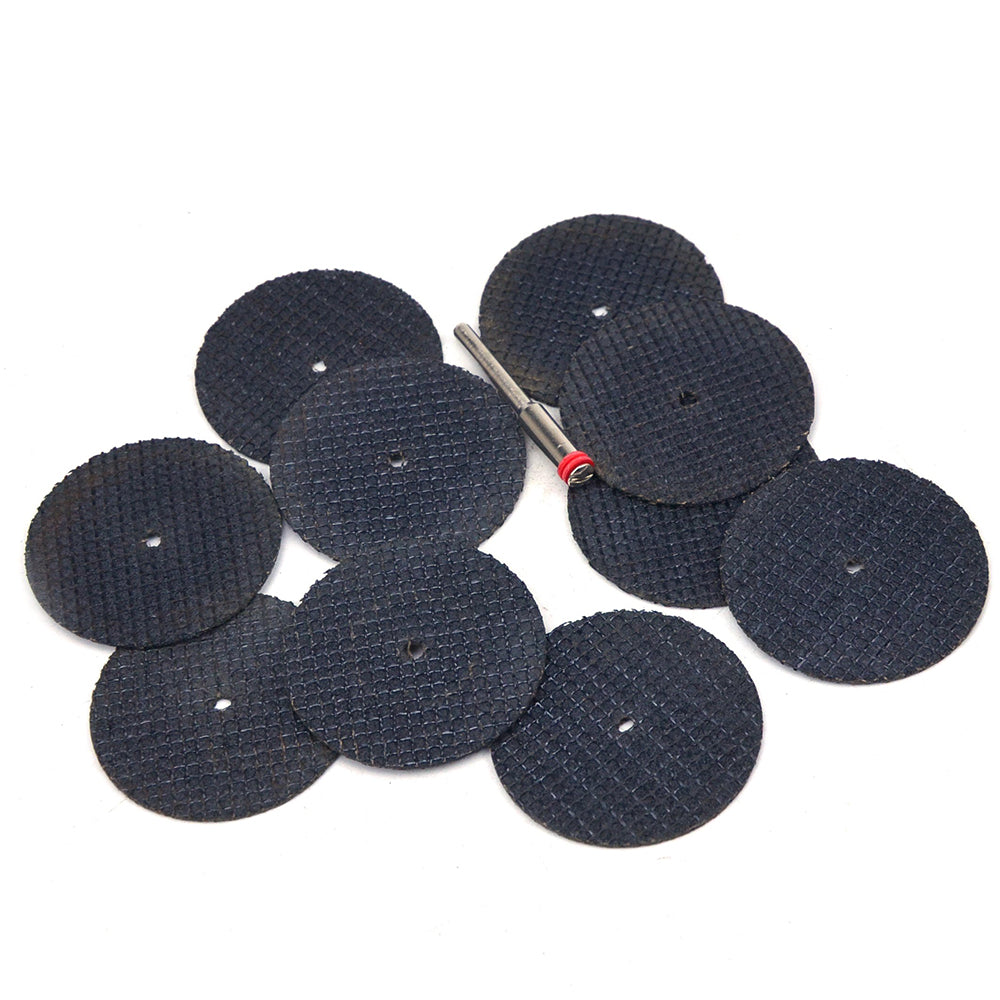 38mm Reinforced Fiberglass Cut Off Wheels Abrasive Cutting Tool Disc with Mandrel, 11pcs Set