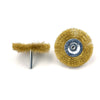 "3"" (75mm) x 6mm Mounted Shank 0.13mm Brass Wire Wheel Brushes"