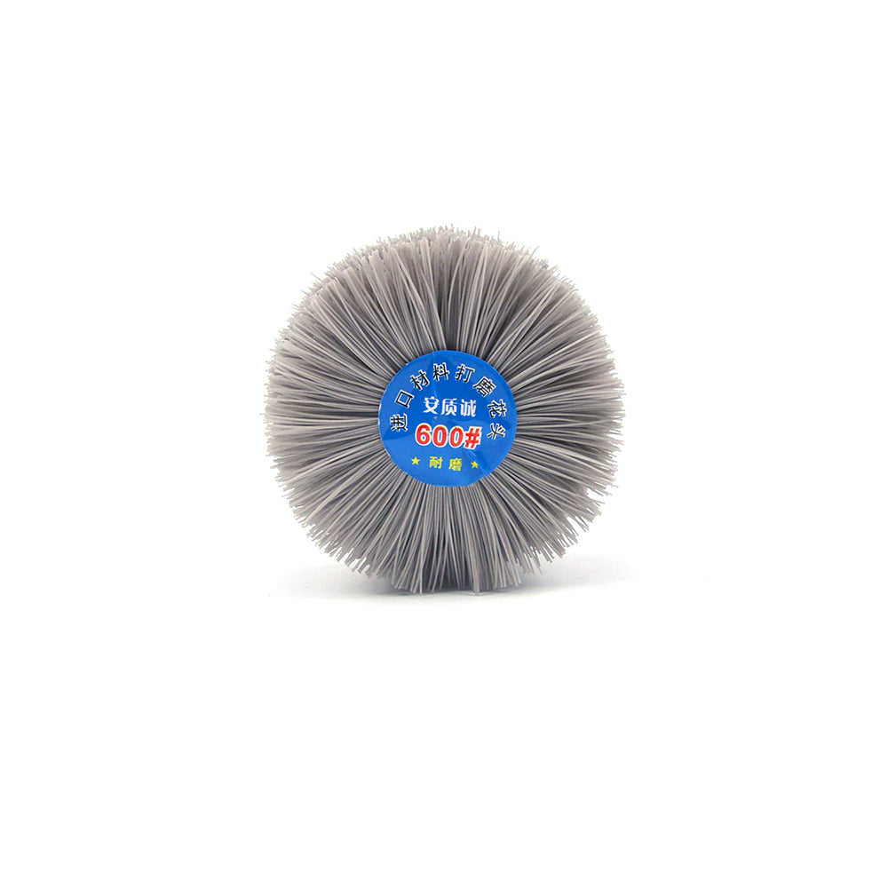 600 Grit 6mm Shank Mounted Nylon Wire Grinding Flower Head Wheel Brush for Woodworking