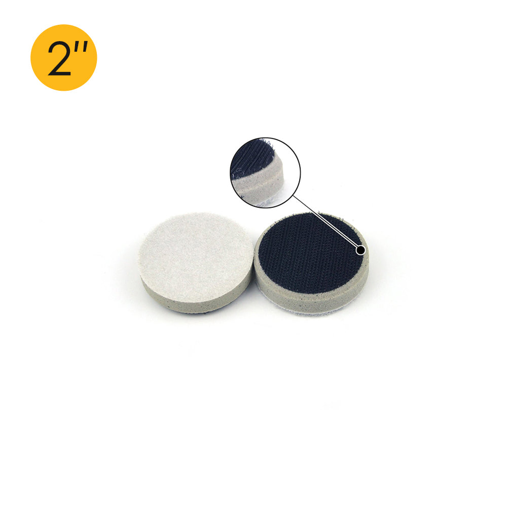 "2"" (50mm) Chamfering High Density Hard Hook & Loop Surface Protection Interface Buffer Backing Pad"