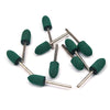 10mm x 3mm Mounted Shank Rubber Polishing Points Buffing Heads, Conical