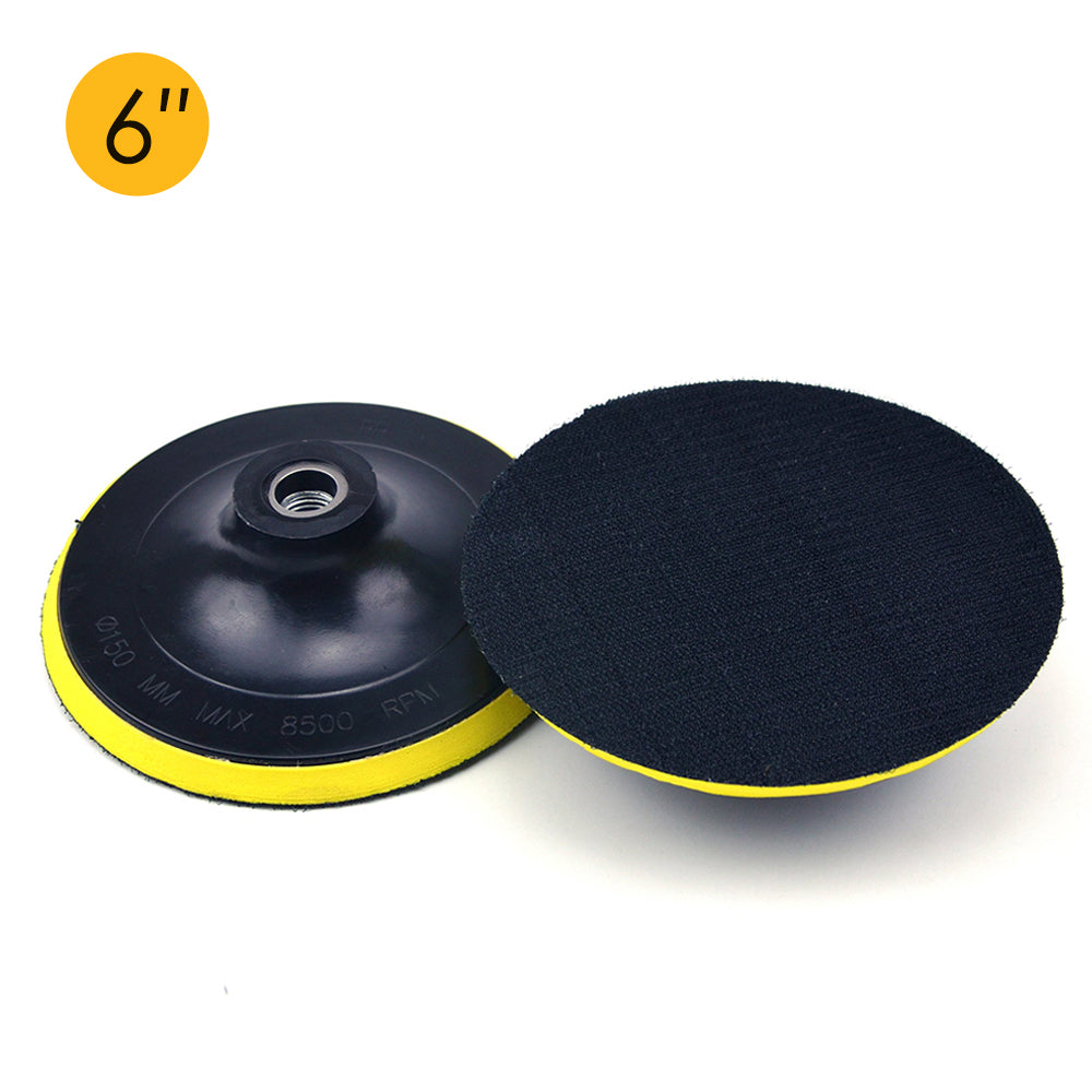 "6"" (150mm) x M16 Thread Hook & Loop Back-up Sanding Pads"