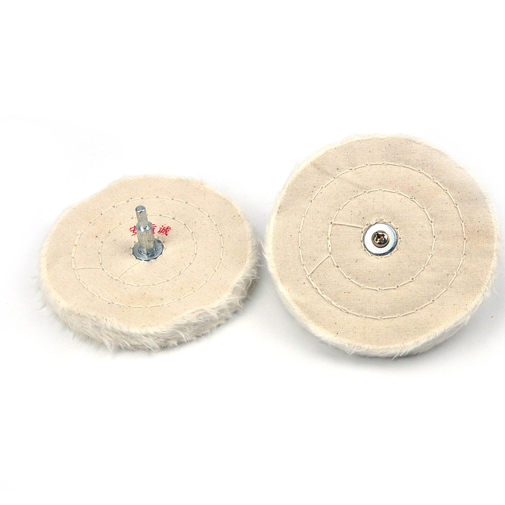 "5"" (125mm) x 6mm Shank Mounted Cotton Buffing Wheels"